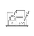 digital signature icon vector image