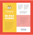 dish business company poster template with place vector image vector image