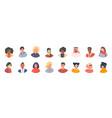 diverse avatars multicultural men and women