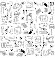 Doodle of school education vector image vector image