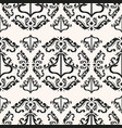 elegant victorian seamless pattern vector image