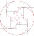 Fibonacci spiral golden ratio
