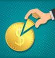financial income and profit vector image