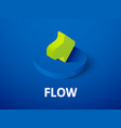 flow isometric icon isolated on color background vector image vector image