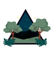 forest on triangle vector image