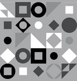 geometric pattern in black and white style vector image vector image