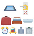 hotel set icons in cartoon style big collection vector image vector image