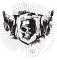 ink skull vector image vector image