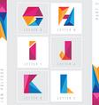 lettering colorful design elements vector image