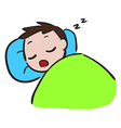 Little Boy sleep Stock vector image