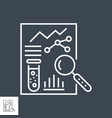 medical analytics related thin line icon vector image vector image