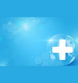 medicine and science with global abstract digital vector image vector image