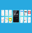 mobil app interface ui ux screen wireframe vector image