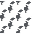 monochrome pattern witch on a broomstick vector image vector image
