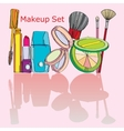 multicolored cosmetics vector image