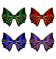 multicolored silk bows vector image