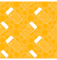 Oktoberfest seamless pattern background with beer vector image vector image