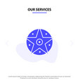 our services pentacle satanic project star solid vector image vector image