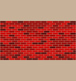 red black brick wall texture vector image