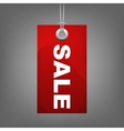 Red price tag SALE vector image vector image