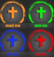 religious cross Christian icon Fashionable modern vector image