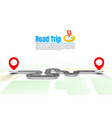 road trip taxi pave route location vector image vector image