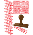 rubberstamp collection vector image vector image