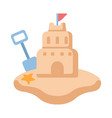 sand castle flat vector image vector image