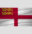 sark flag flag of sark blowig in the wind eps 10 vector image vector image