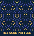 seamless hexagon arrow pattern denim vector image vector image