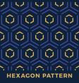 seamless hexagon arrow seamless pattern denim vector image vector image