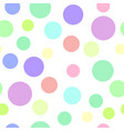 seamless pattern with color circles vector image