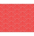 Seamless pattern with dotted scales vector image vector image
