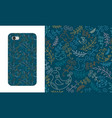 seamless pattern with spring birds and branches vector image vector image