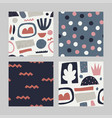 set with abstract seamless pattern vector image vector image