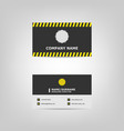simple business card design template vector image vector image