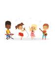 singing kids cute children choir kids vector image vector image