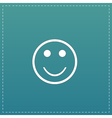 Smile flat icon vector image vector image