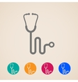 stethoscope icons vector image vector image
