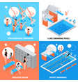 swimming pool design concept vector image vector image