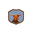Texas Longhorn Red Bull Shield Retro vector image vector image