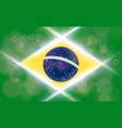 the national flag of brasil modern pattern vector image