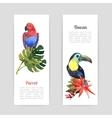 Tropical birds watercolor banners set vector image vector image