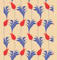 turkish tulip seamles pattern vector image vector image