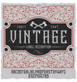 vintage label decoration poster vector image vector image