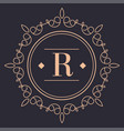 vintage rounded label or logotype luxury brand vector image vector image