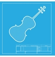 Violine sign White section of icon vector image vector image