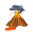 volcanic eruption isolated icon vector image