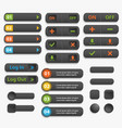 web buttons realistick vector image