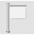 white sign for sale isolated transparent vector image vector image